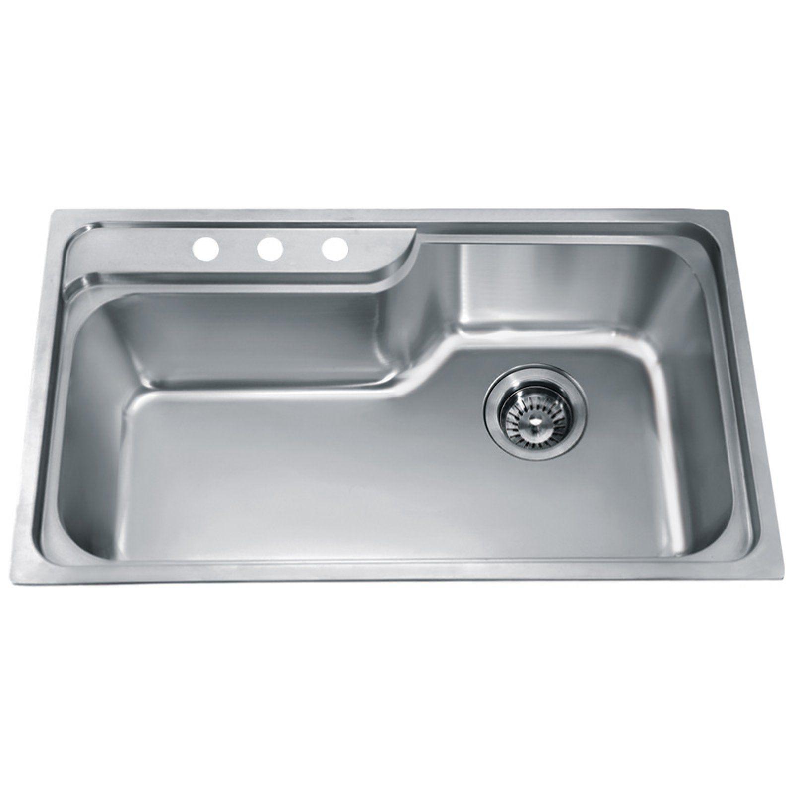 Dawn Ch368 Top Mount Single Bowl Stainless Steel Kitchen Sink