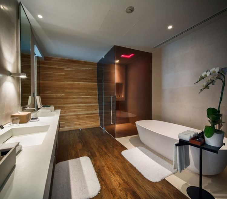 Stunning Idee Salle De Bain Bois Pictures  Amazing House Design
