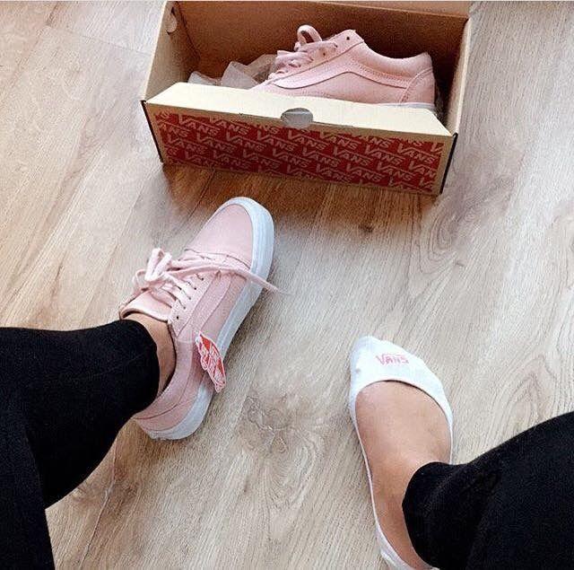 vans canvas rosa