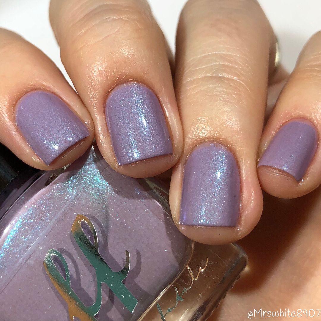 Famous Iridescent Purple Nail Polish Embellishment - Nail Art Ideas ...