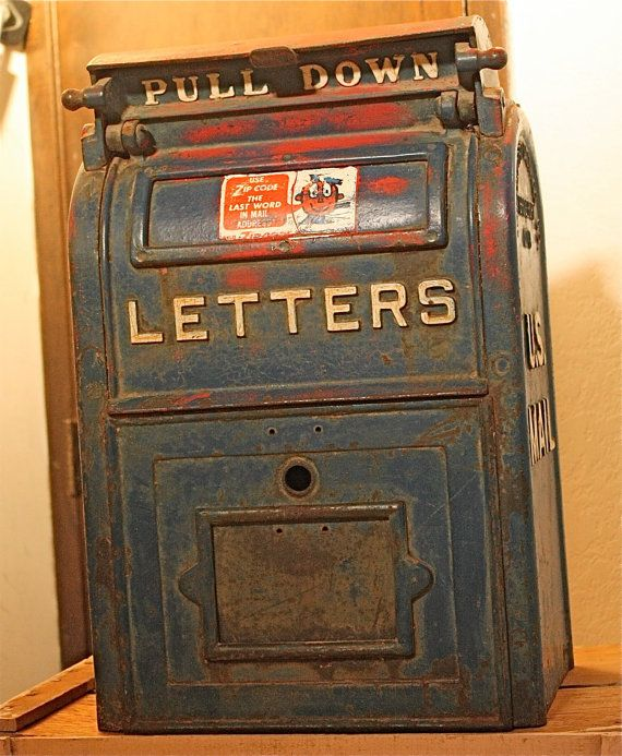 Antique Post Office Box From Bridgeport Ct Year 1948 On The Etsy Old Boxes Bridgeport Old Things