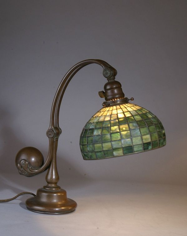 Tiffany Studios Leaded Counter Balance Desk Lamp - The Antique Traders - Share Tweet Pin Mail An Example Of A Tiffany Studios Counter Balance