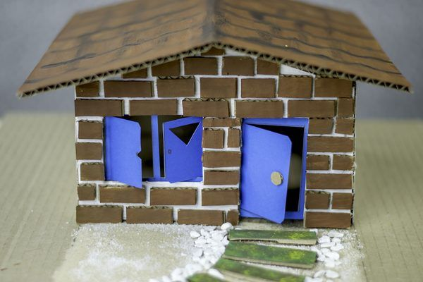 How To Build A Cardboard Model House House Project