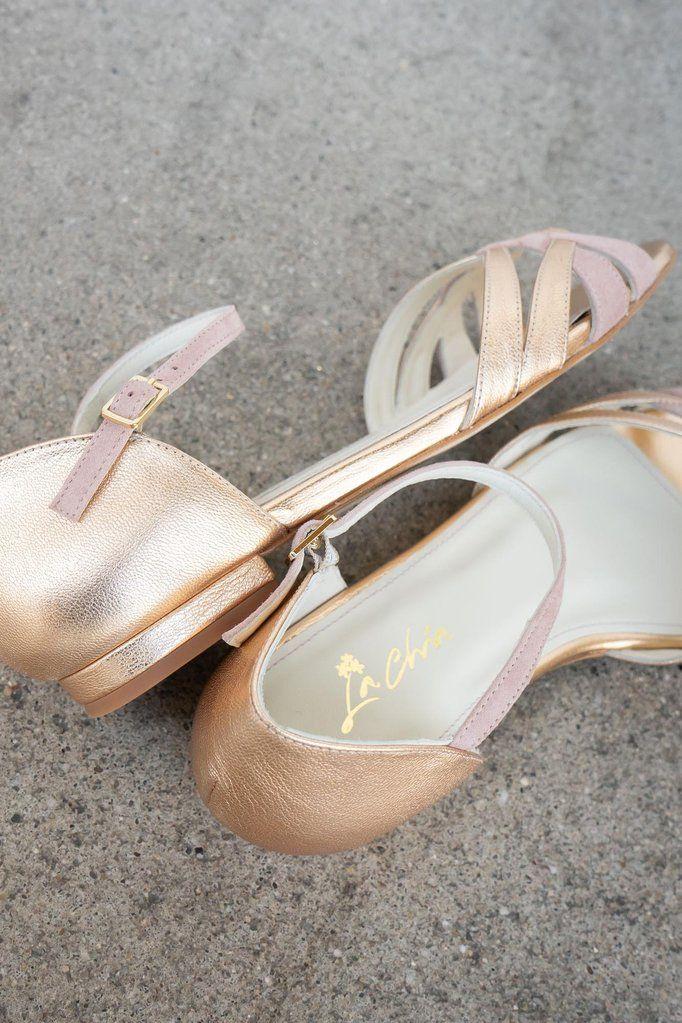 Braut Sandale Mit Flecht Muster In Altrose Und Gold Zur Hochzeit Boston Braut Sandalen Hochzeitsschuhe Brautschuhe