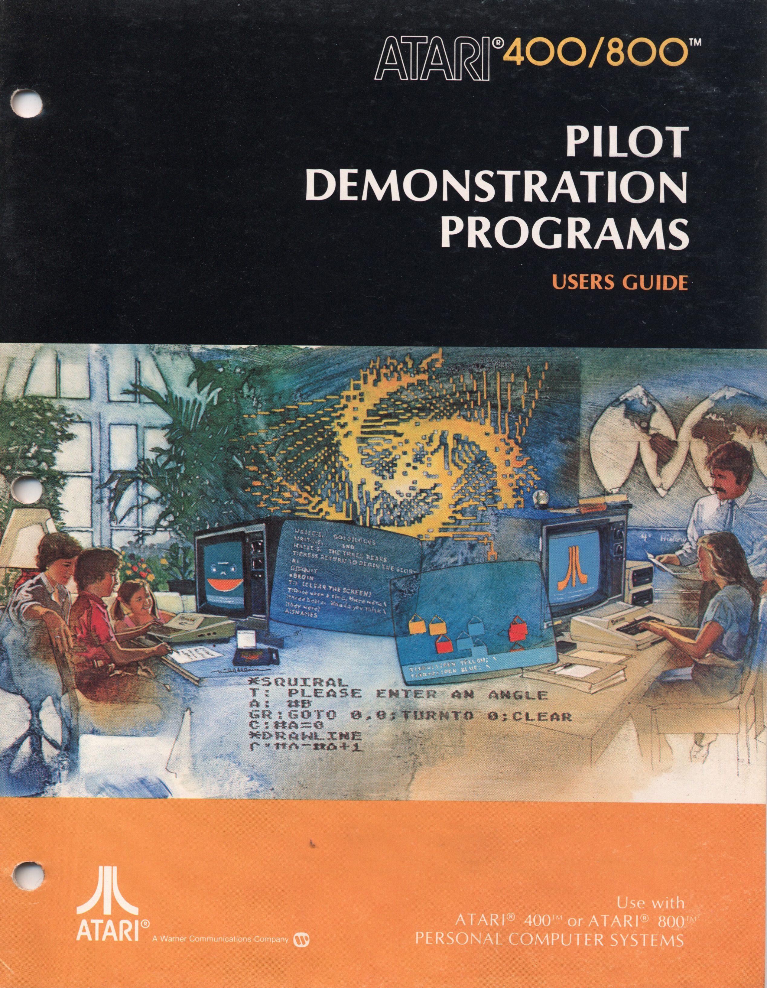 ATARI Pilot Demonstration Programs Computer history
