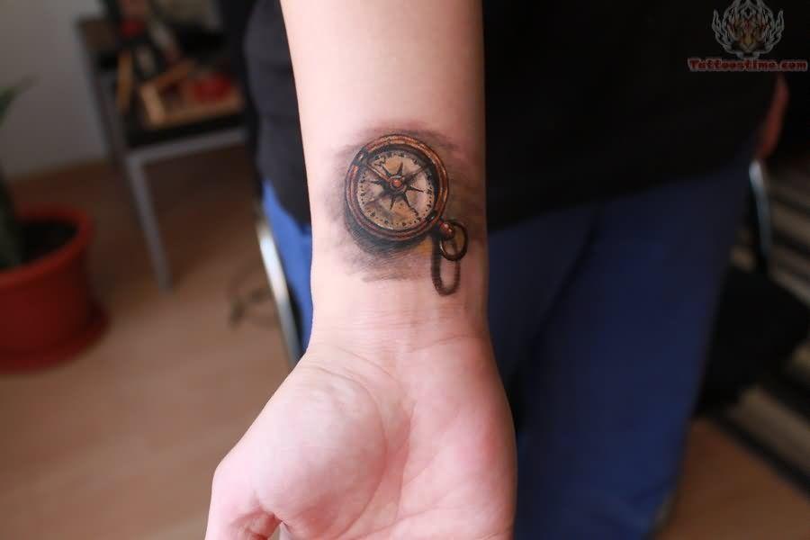 Compus Tattoos Small Compass Watch Tattoo On Arm Wrist Tattoos