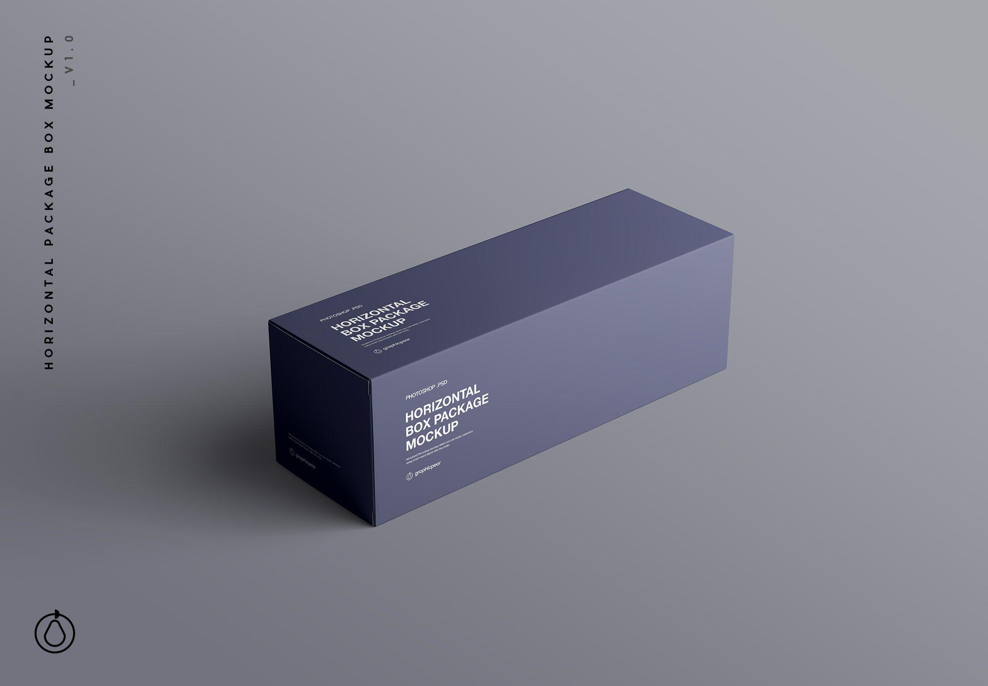 Download Horizontal Package Box Mockup Box Mockup Box Packaging Mockup