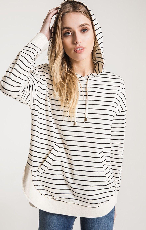 26a9900b6d5ff The Striped Dakota Pullover Hoodie   Z SUPPLY
