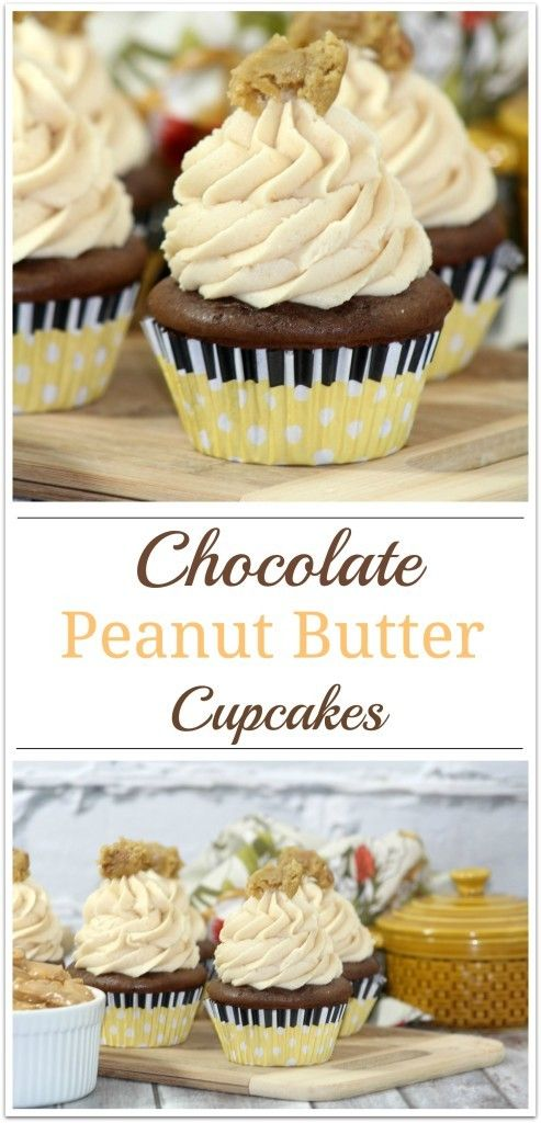 Yummy Chocolate Peanut Butter Cupcakes