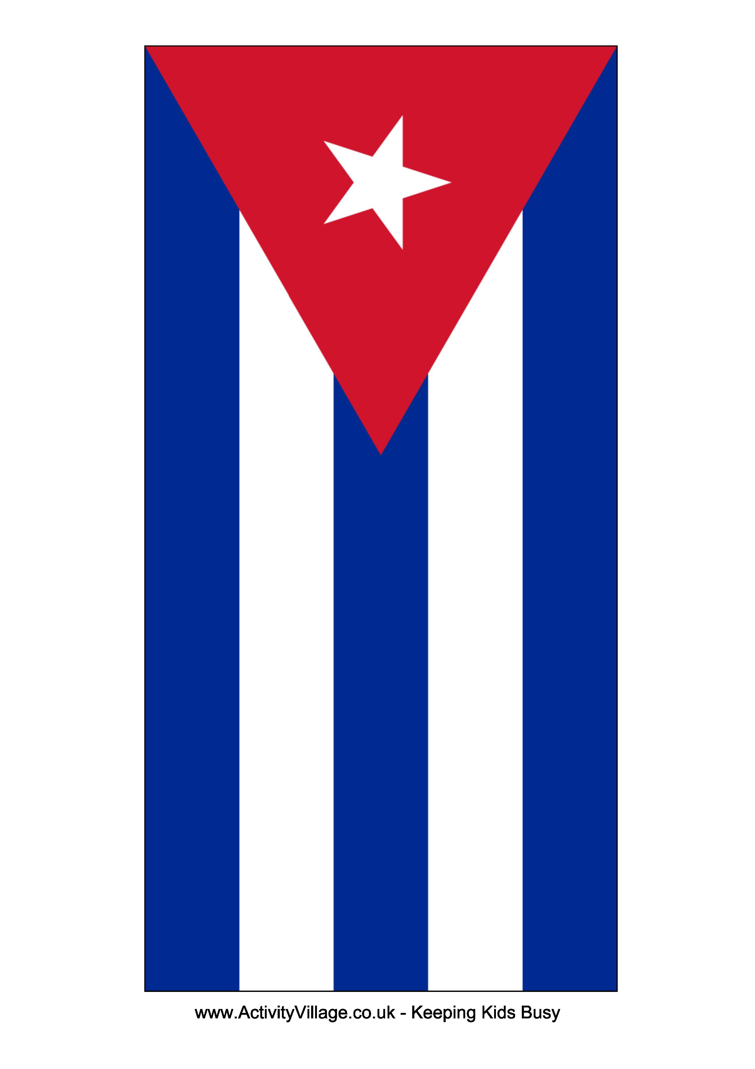 Cuba Flag Free Printable Cuba Flag Travel Theme Templates