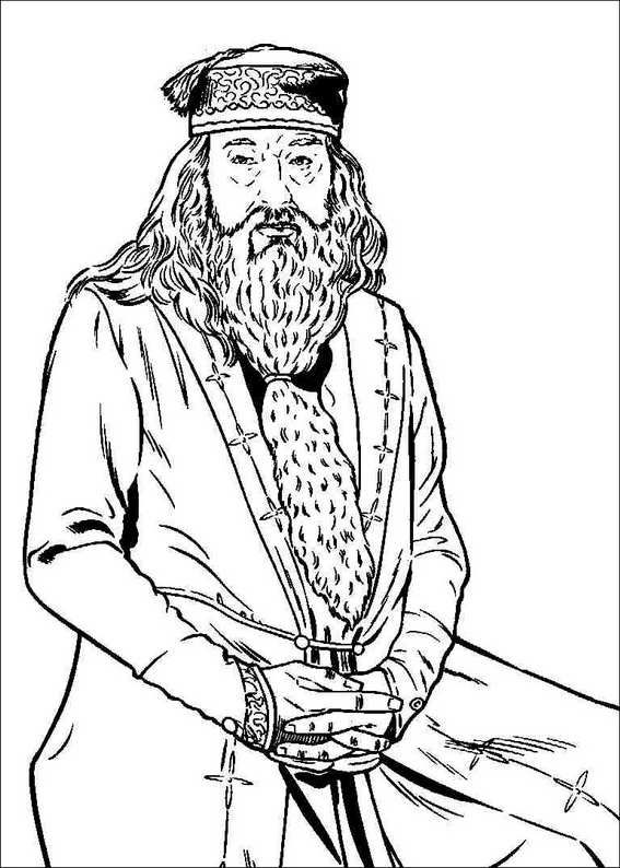 Hogwarts Magic School Principal | Harry Potter Coloring Pages ...