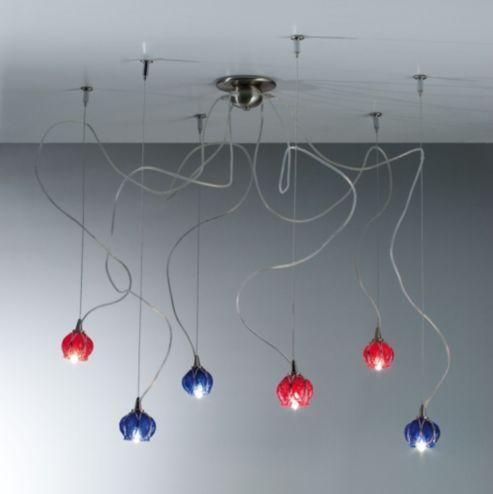 Buy Siru Retro Six Light Pendant - Red Baloton from our Pendants range - Tesco.com
