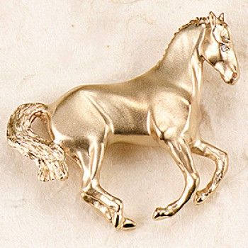 Ashley\'s Canter Pirouette Pin, 14k Gold