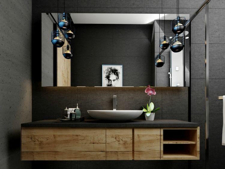 Badezimmer Industrial Design Pendelleuchten Moderne Badmobel