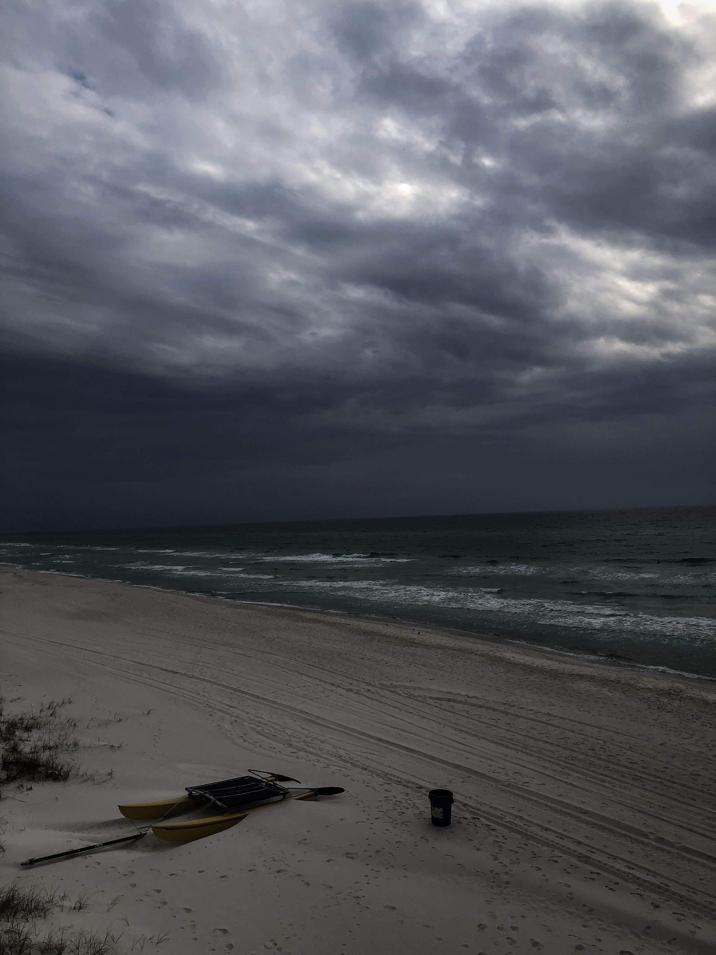 Panama City Beach On A Gloomy Day Sky Aesthetic Dark Beach Beach Aesthetic