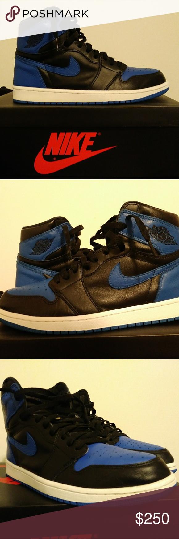 28b7cbccfa8eff JORDAN 1 ROYAL SZ 10.5 VNDS Worn 2x no heel drag or scuffs JORDAN BRAND  Shoes Sneakers