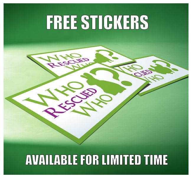 Free Who Rescued Who Sticker Rescue Stickers Free Stickers