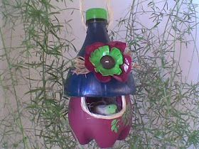 How to make a plastic bottle bird house