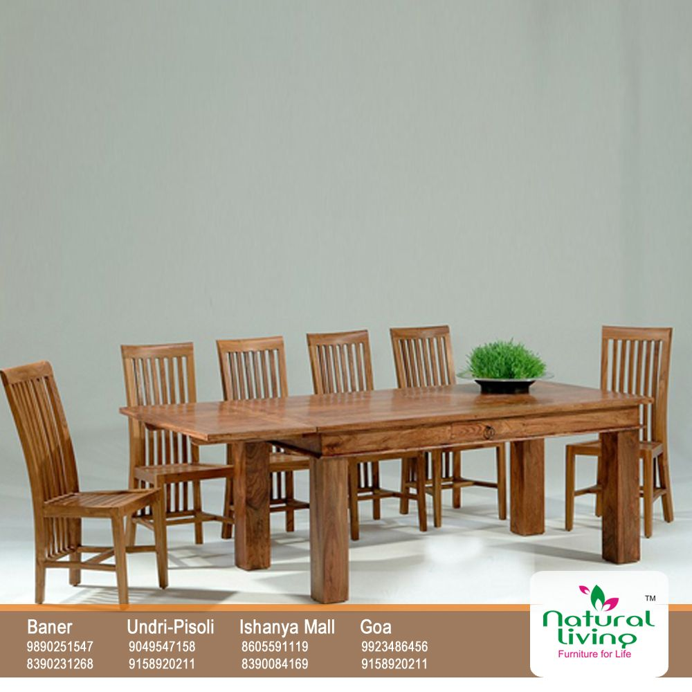 For Big Families A Vertical Ladder Back Long Dining Table Cut Out Of