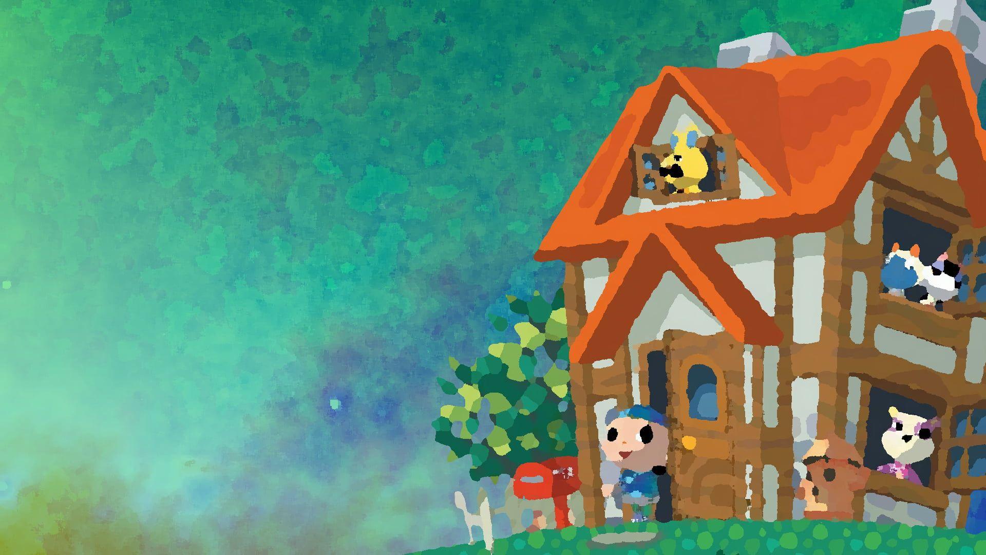 Animal Crossing Games Art House Male 1080p Wallpaper Hdwallpaper Desktop Animal Crossing Game Art Wallpaper