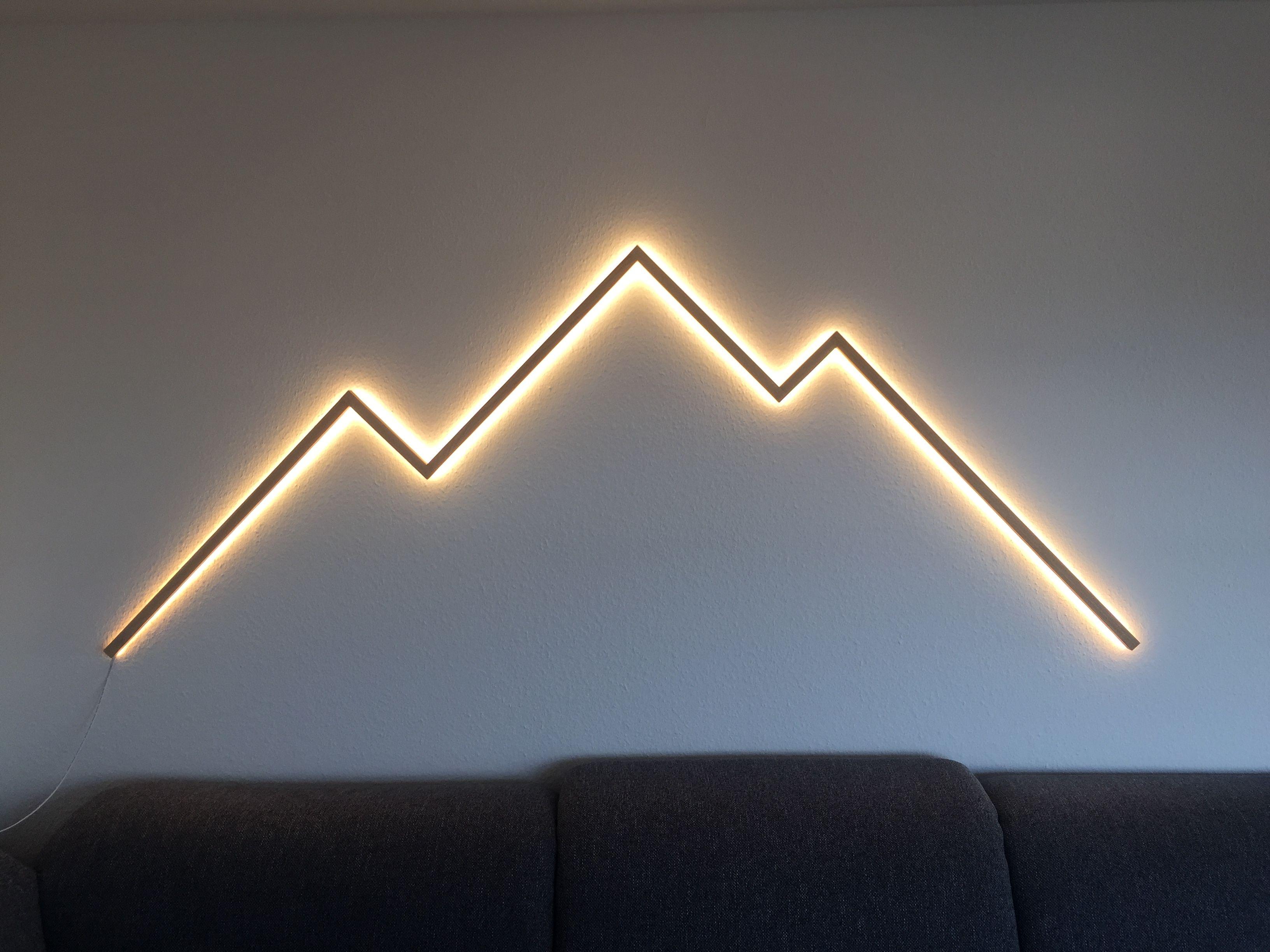 leuchtende berge wandbeleuchtung beleuchtungsideen beleuchtung fur zuhause obi wanddekoration moderne