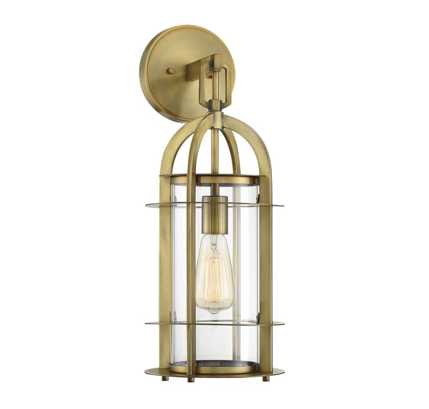 Savoy House 5 801 Outdoor Wall Lantern Wall Lantern Brass