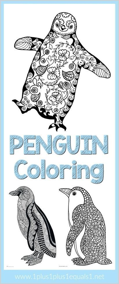 Penguin Doodle Coloring Pages Penguins, Doodles and Craft - new free coloring pages quail