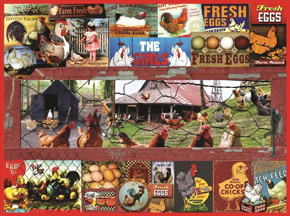 The Chicken or the Egg? (300 Large Piece Puzzle by SunsOut)