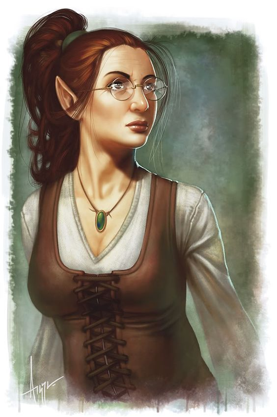 Female Rpg Elf Peasant Librarian Merchant Dungeons