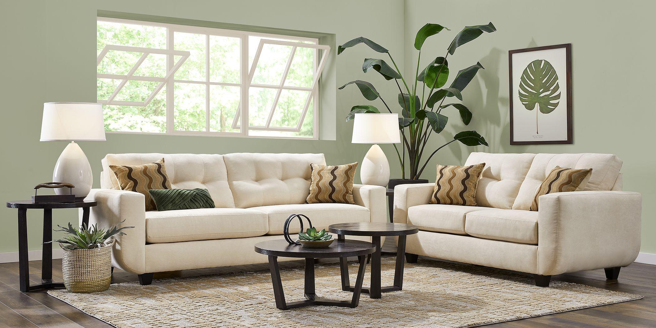 Avila Loft Beige 2 Pc Living Room In 2020 Beige Sofa Living