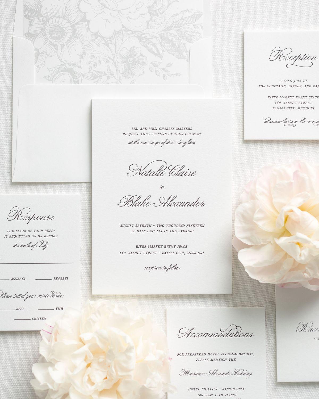 Letterpress Wedding Invitation Package Deal   Invitation   Pinterest ...