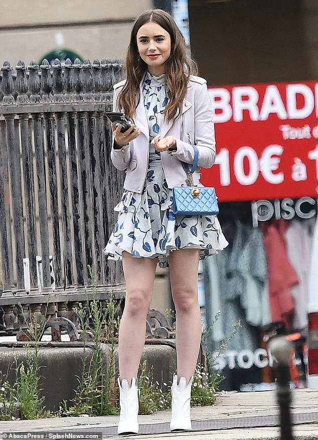 Lily Collins displays her sartorial flair in two l