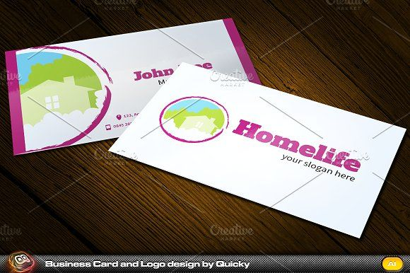 Homelife Business Card And Logo By Quicky On Creativemarket