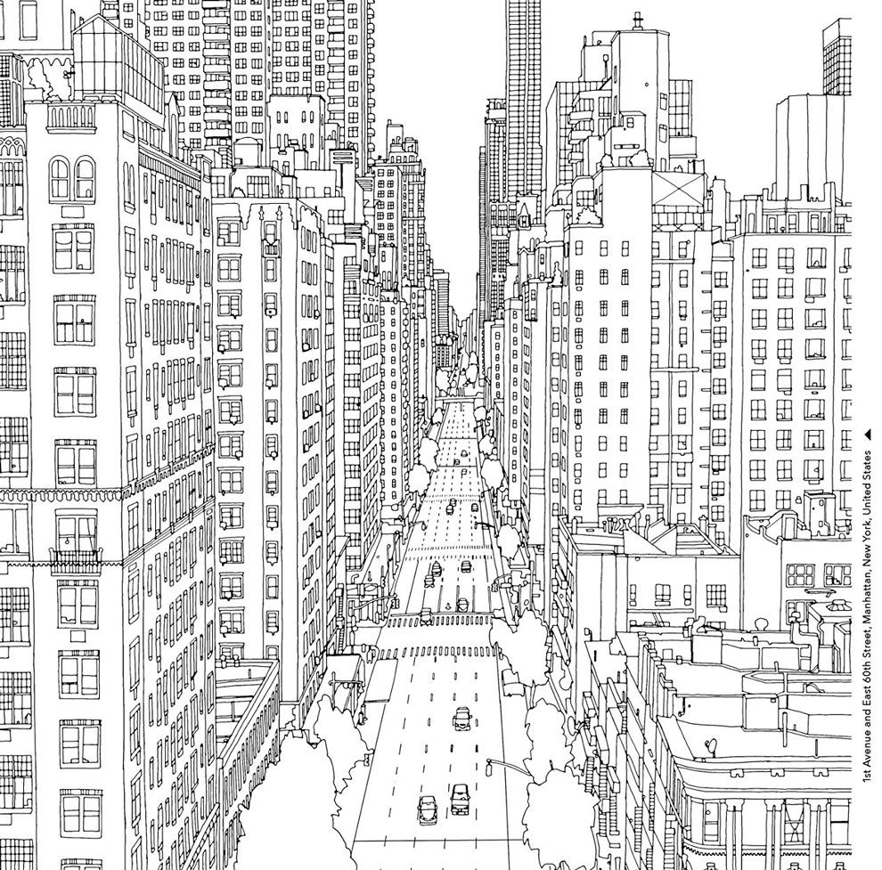 Fantastic Cities By Steve Mcdonald Adult Coloring Pages Darmowe