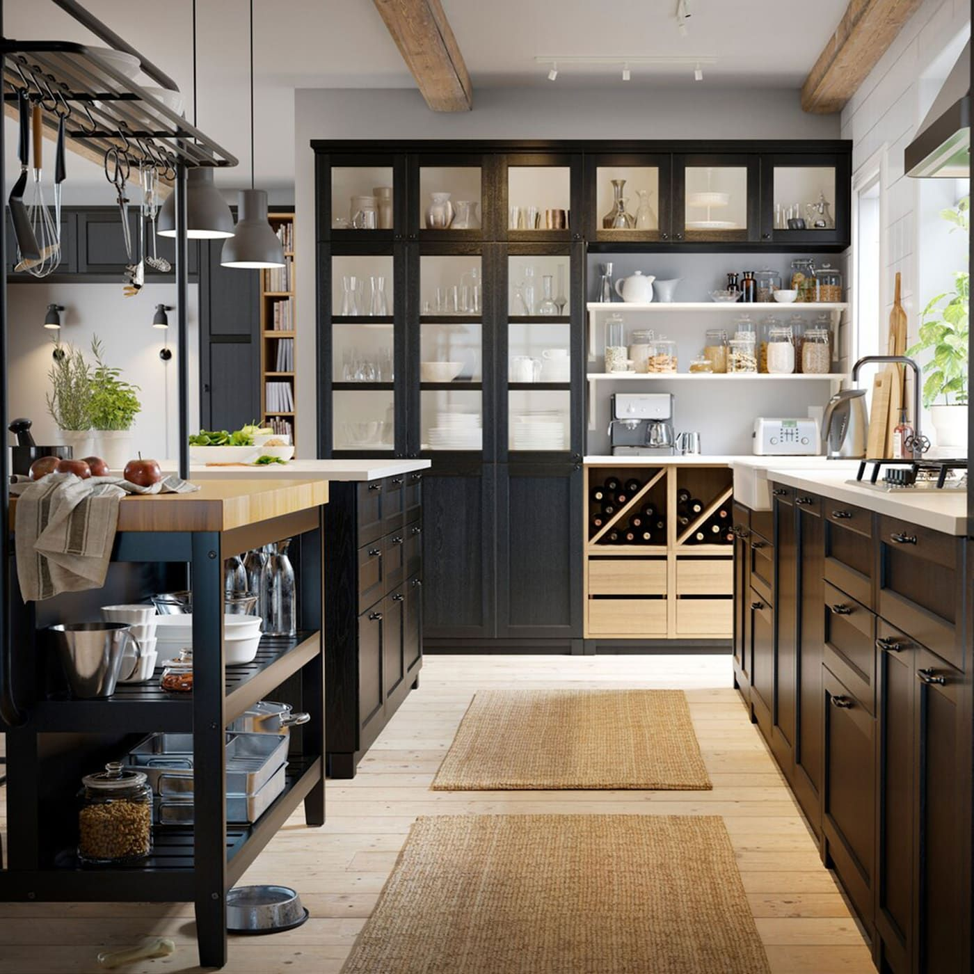 A Classic Kitchen Full Of Charm Ikea Kitchen Inspiration Kitchen Layout Ikea Kitchen Island