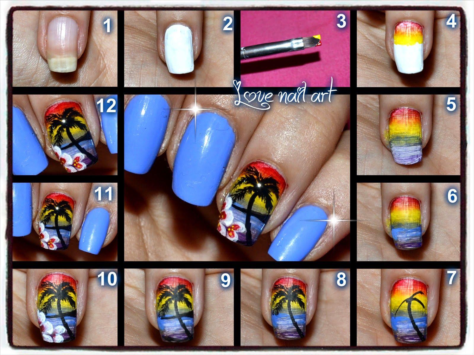 Love nail art tutorial nail art tramonto estivo idee che love nail art tutorial nail art tramonto estivo prinsesfo Gallery