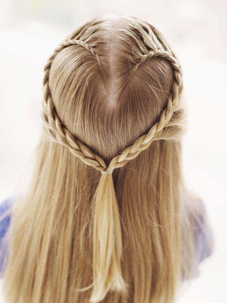 Lace braid heart peinados pinterest lace braid ponytail and