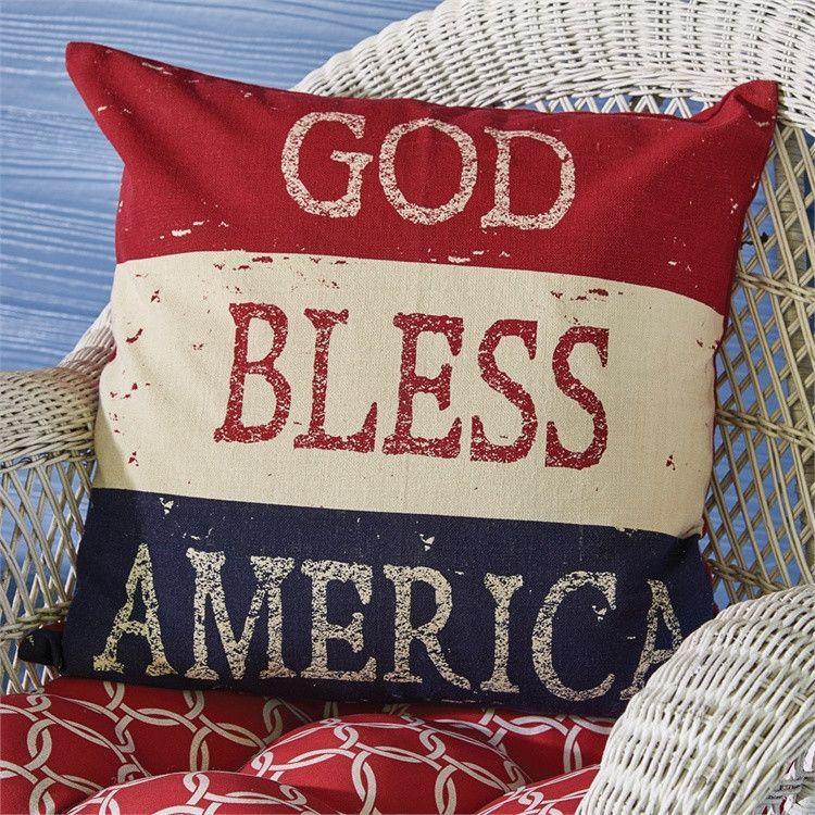 Bless America Pillow Inspirational