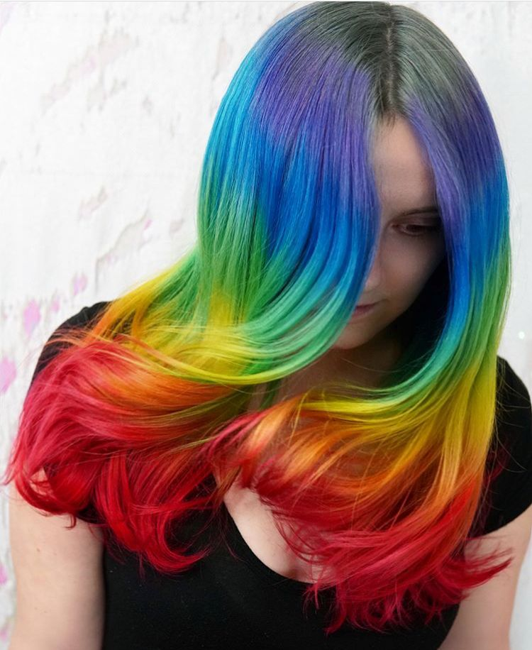 52 Ombre Rainbow Hair Colors To Try 2: Pin By Naiara On Hair Colors