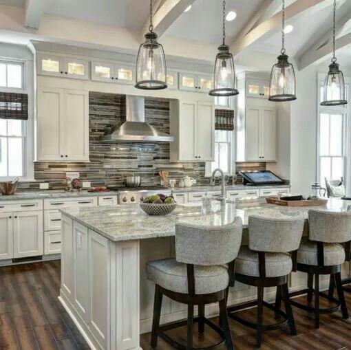 Upper Kitchen Cabinet Decorating Ideas: Love This Upper Cabinet Idea After Kitchen Soffit Is