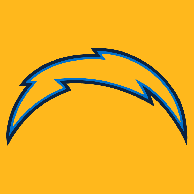 San Diego Chargers Desktop Wallpaper: Los Angeles Chargers Primary On Dark Logo