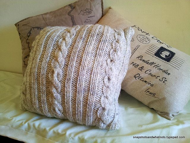 Diy Cable Knit Cushion Cover Pinterest Tutorials Patterns And