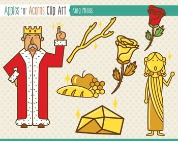 King Midas Clip Art Color And Outlines Art Clip Art King Midas
