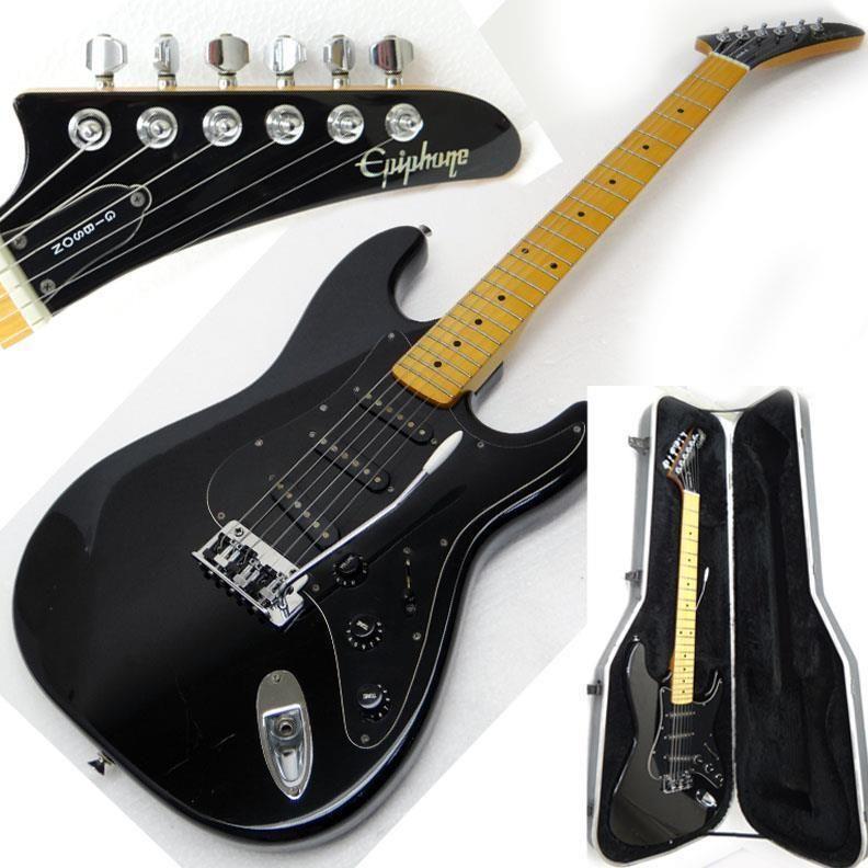 Vintage 1991 Epiphone S 310 B Guitar Black Strat Style Case Free Shipping Epiphone Guitar Vintage Guitars