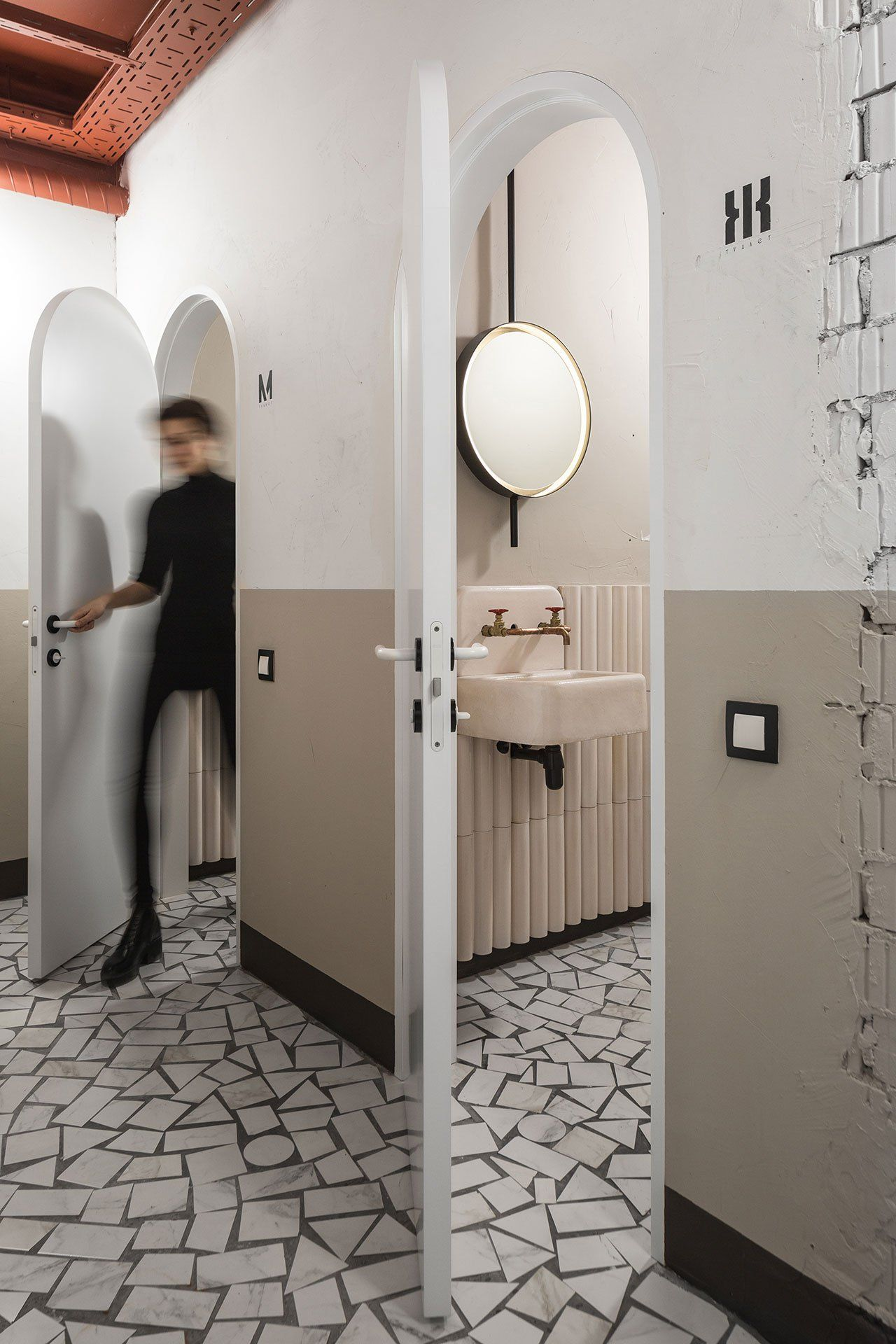 modern meets homage in the offices of vizor interactive by studio11 in minsk belarus bathroom interior designcontemporary