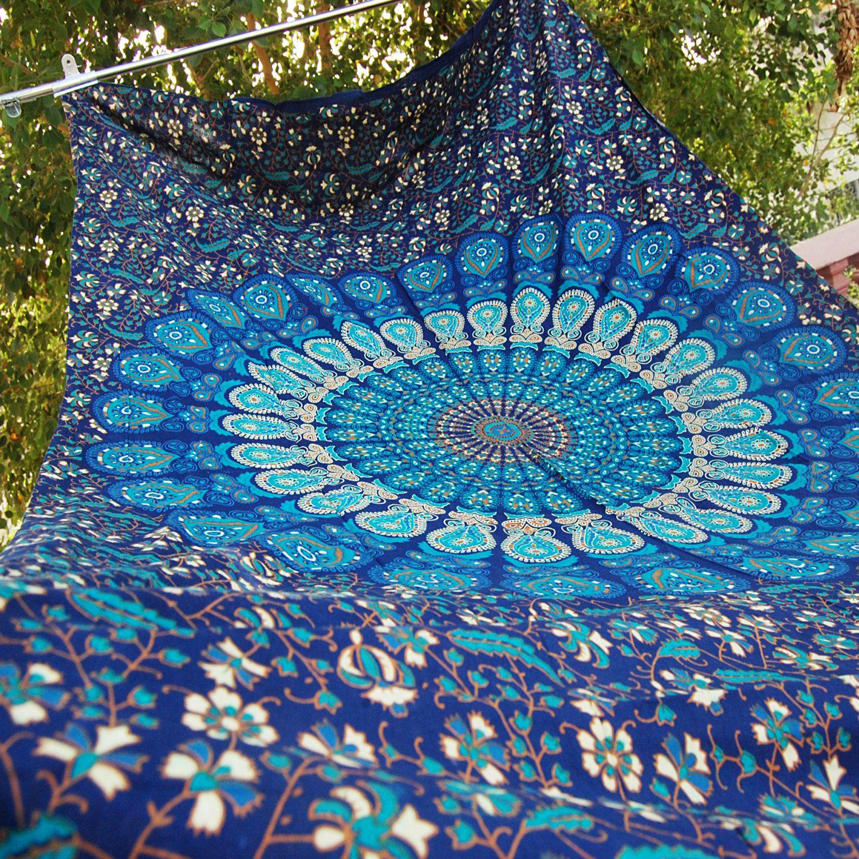 blue hippie mandala tapestry wall hanging boho bohemian twin blue hippie mandala tapestry wall hanging boho bohemian twin bedding throw bedspread ethnic home decor art