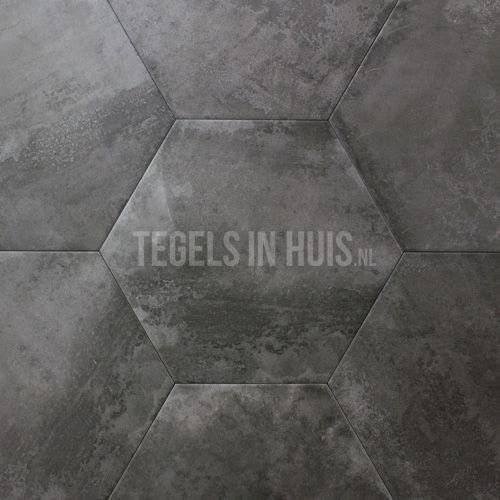 Aanbieding Terrastegels 60x60.Hexagon Zeshoek Tegels Donker Grijs 25x30cm Badkamer Tile