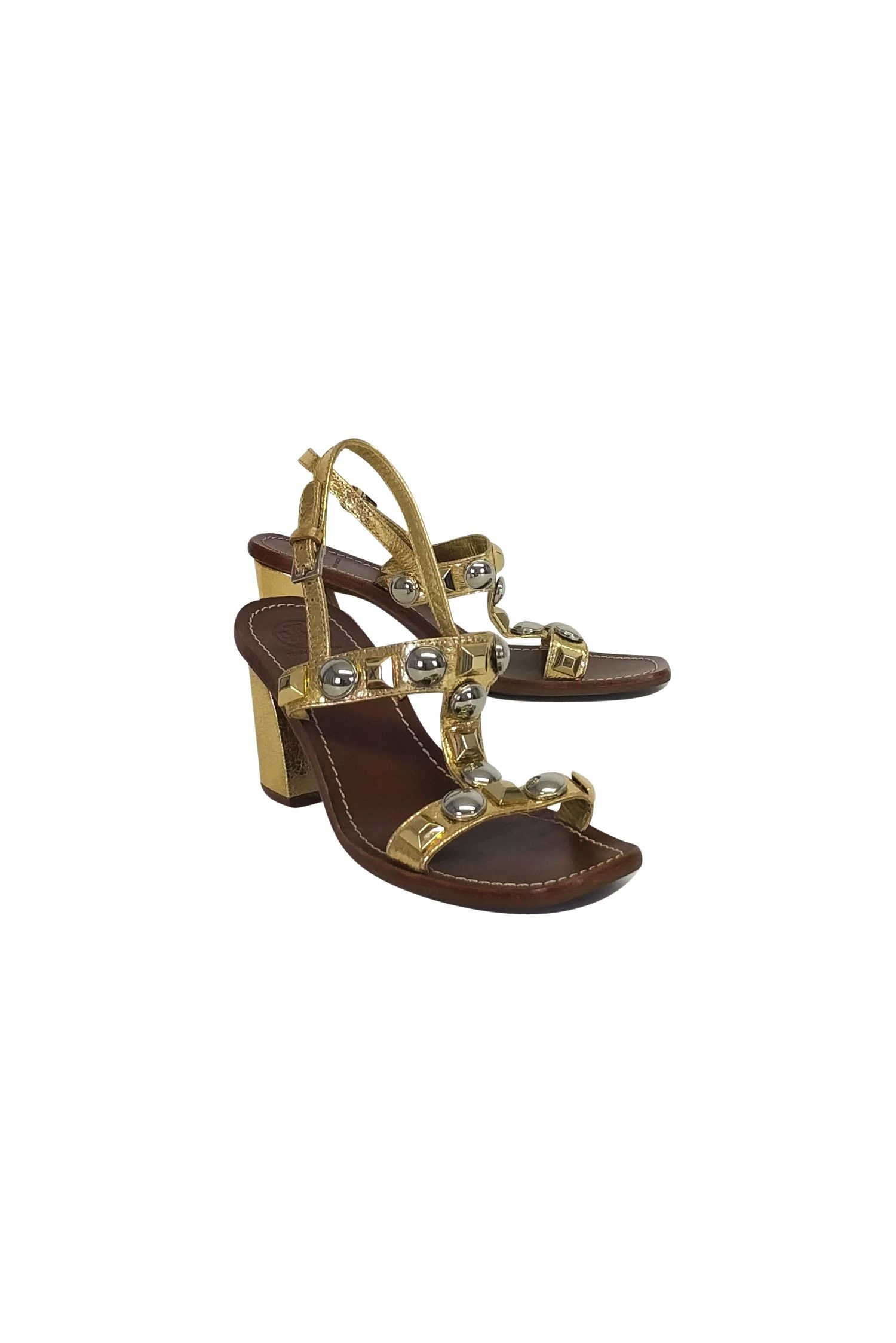 8d70974ba Tory Burch- Gold Jeweled Sandals Sz 9