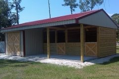 2 Stall Shed Row With Tack Horse Barns And Goat Shelters