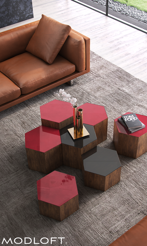 Versatile Hexagon Centre Occasional Tables From Modloft Offer Great  Flexibility And Design Options For Your Living